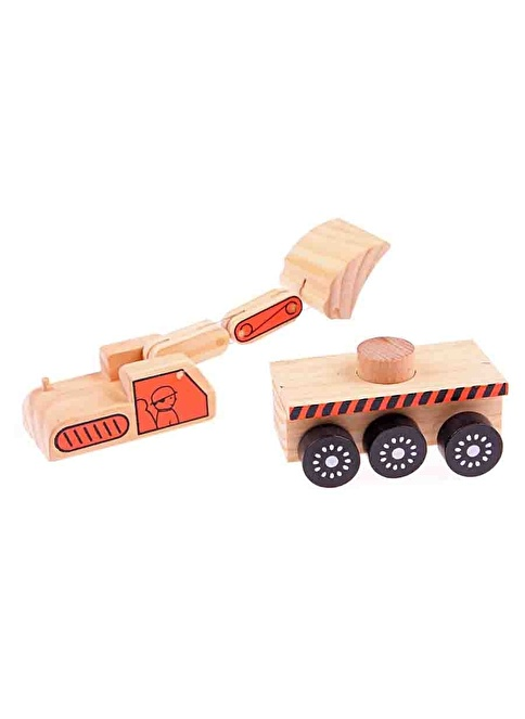 Learning Toys Wooden Machineshop Truck Renkli